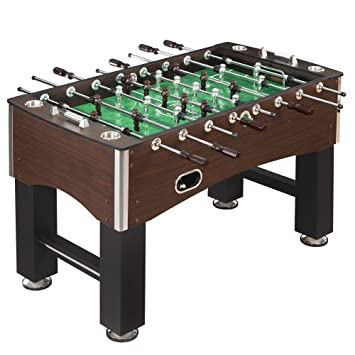 Hathaway 56 Inch Primo Foosball Table, Family Soccer Game With Wood Grain  Finish,