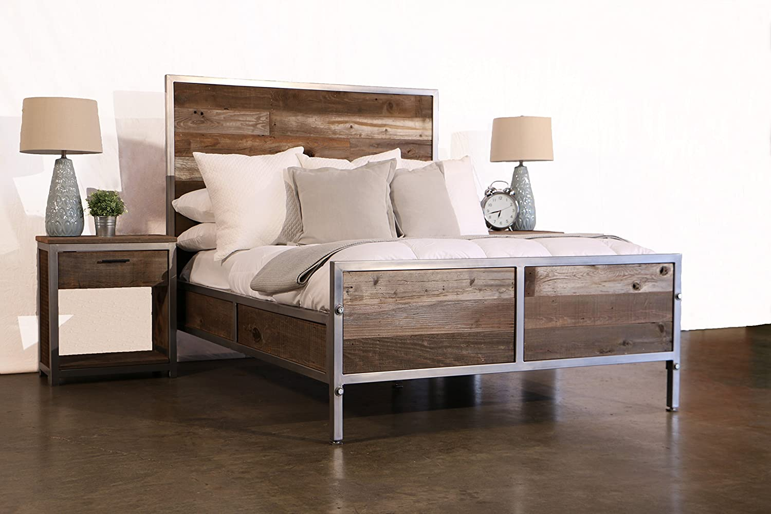 Amazon.com: Modern Reclaimed Wood Bedroom Set: Handmade
