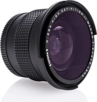 Df D7500 D3300 Digital SLR Cameras D5600 D4 D610 D810 D7200 D3400 D5300 Opteka .35x HD Super Wide Angle Panoramic Macro Fisheye Lens for for Nikon D5 D500 D5500 D850 D3500 D750