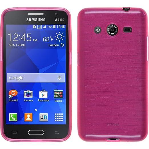 33 opinioni per PhoneNatic Custodia Samsung Galaxy Core 2 Cover rosa caldo brushed Galaxy Core 2