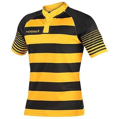 4ed05bd4490 Amazon.com: KooGa Mens Touchline Hooped Match Rugby Shirt: Clothing