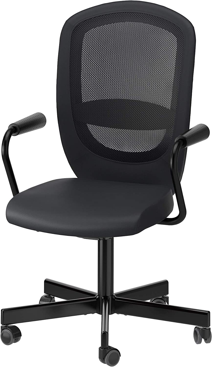 IKEA FlintanNominell Swivel Chair with Armrests Black