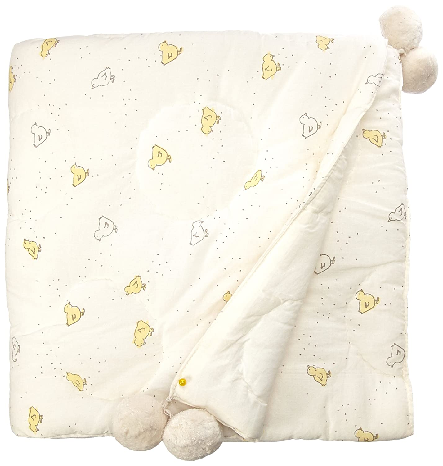 Pehr Designs Baby Chick Quilted Pom Blanket, Soft Yellow by Pehr Designs   B01BLENP4Q