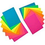 American Greetings Neon Rainbow Blank Single Panel Cards and Colored Envelopes, 100-Count