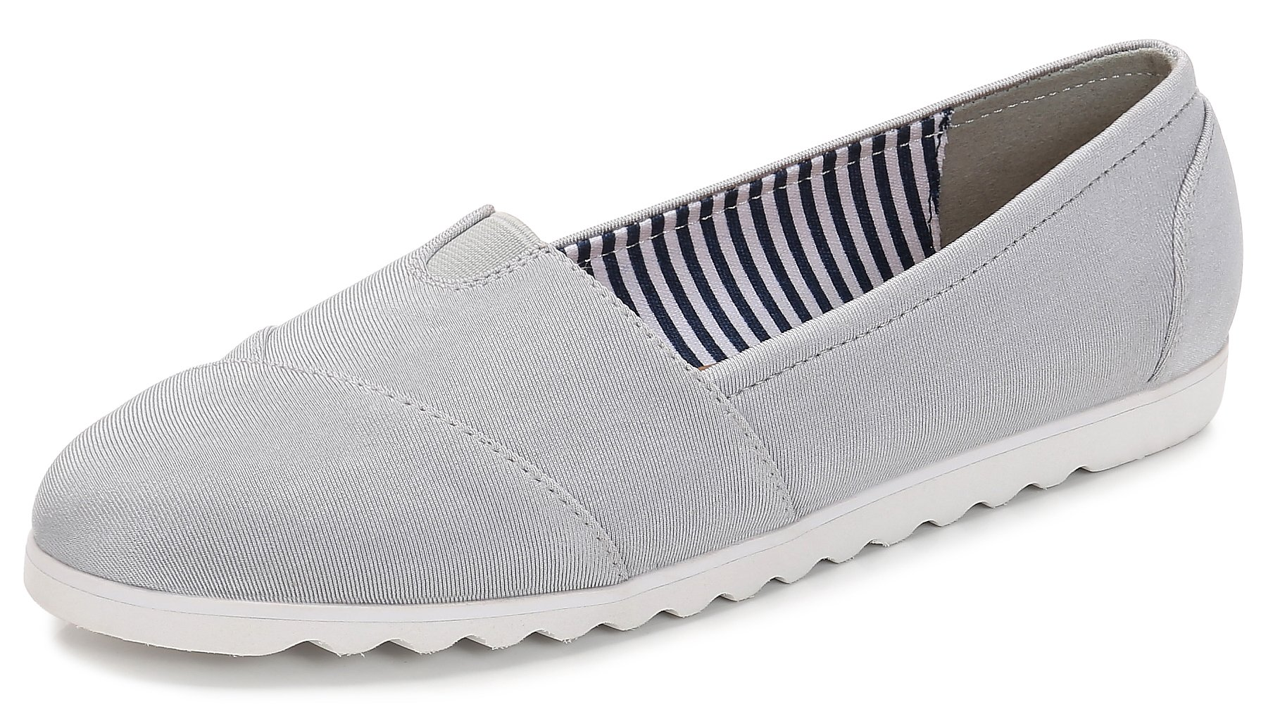ComeShun Grey Womens Shoes Classic Slip On Comfort Casual Flats Size 7