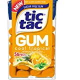 Tic Tac Gum, Sugar Free Chewing Gum, Cool Tropical, 12 Count