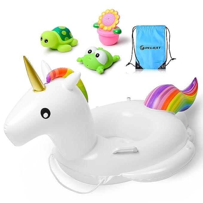Amazon.com: Pfloat Unicornio bebé flotante, flotador ...
