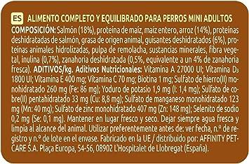 ultima Pienso para Perros Mini Sensitive con Salmón - 1.5 kg ...