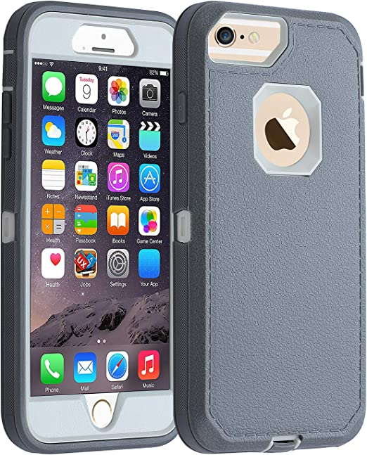 Amazon Com Co Goldguard Case Iphone 7 Heavy Duty Iphone 8 Case Durable 3 In 1 Hard Cover Dust Proof Shockproof Drop Proof Scratch Resistant Shell Gray White Electronics