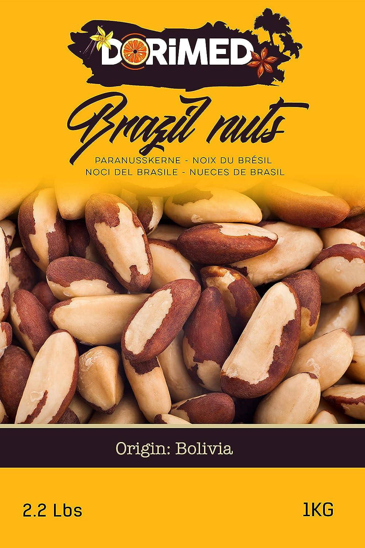Nueces de Brasil Enteras   1 Kg de Nueces de Brasil de origen 100% natural   Sin cáscara   Fruto Seco Crudo y Sin Sal   No tostadas   IDEAL para recetas  