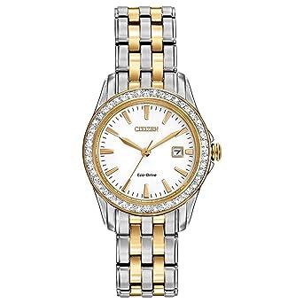 Amazon.com: Reloj analógico Eco-Drive EW1908-59A ...