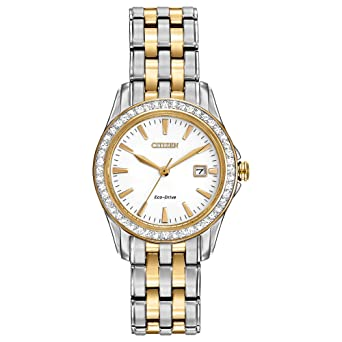 e4ecd2dc1ae32b Amazon.com: Citizen Women's Eco-Drive Silhouette Crystal watch with Date,  EW1908-59A: Watches