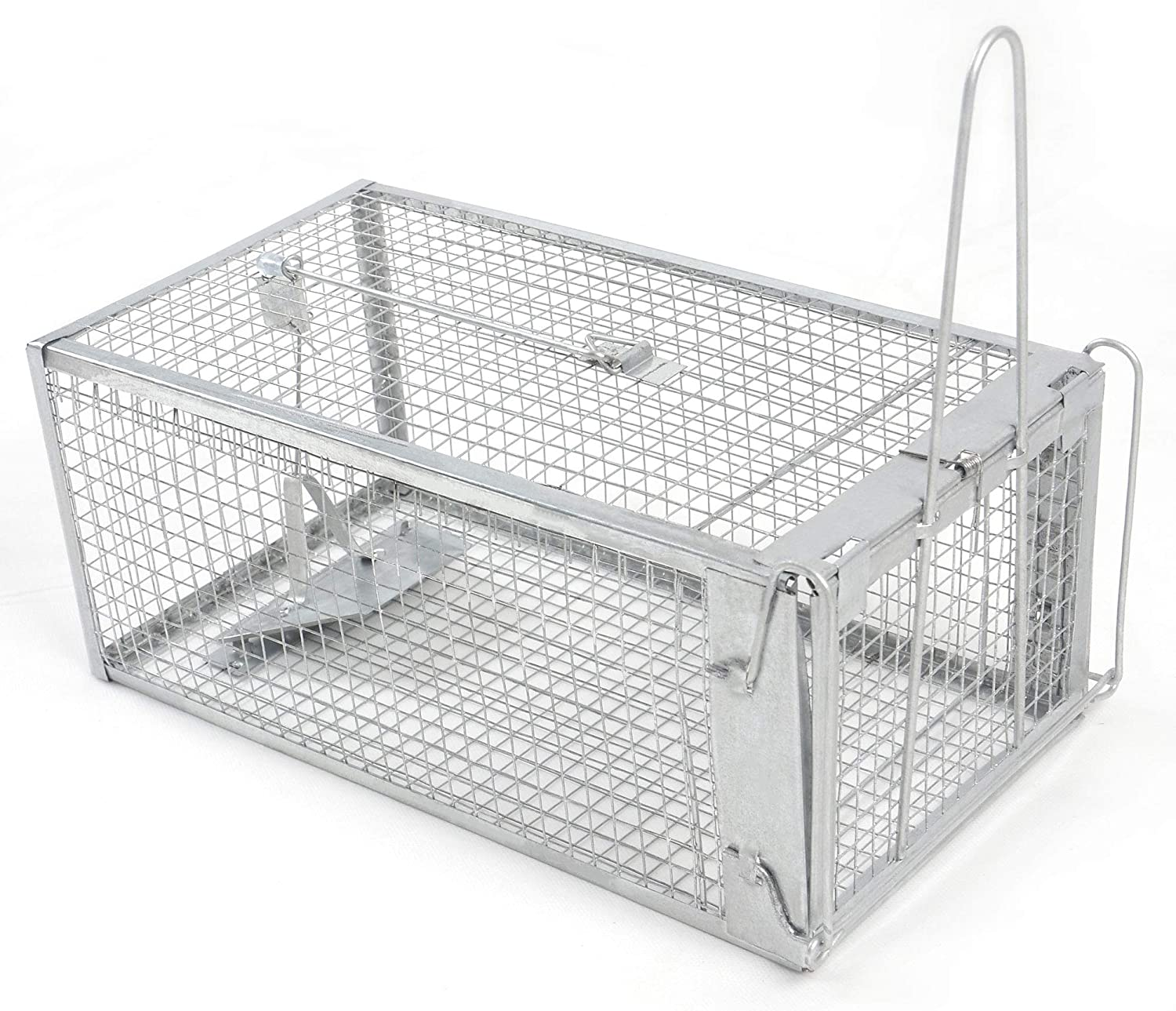 H&B Luxuries Rat Trap - Humane Live Animal Cage for Rat Mouse Hamster Mole Weasel Gopher Chipmunk Squirrels and More Rodents (12.7