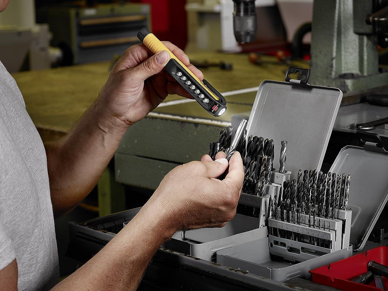 handliche LED Arbeitsleuchte Brennenstuhl LED Inspektionsleuchte Farbe Stiftleuchte batteriebetrieben, inkl. drehbarem Clip mit Magnet orange