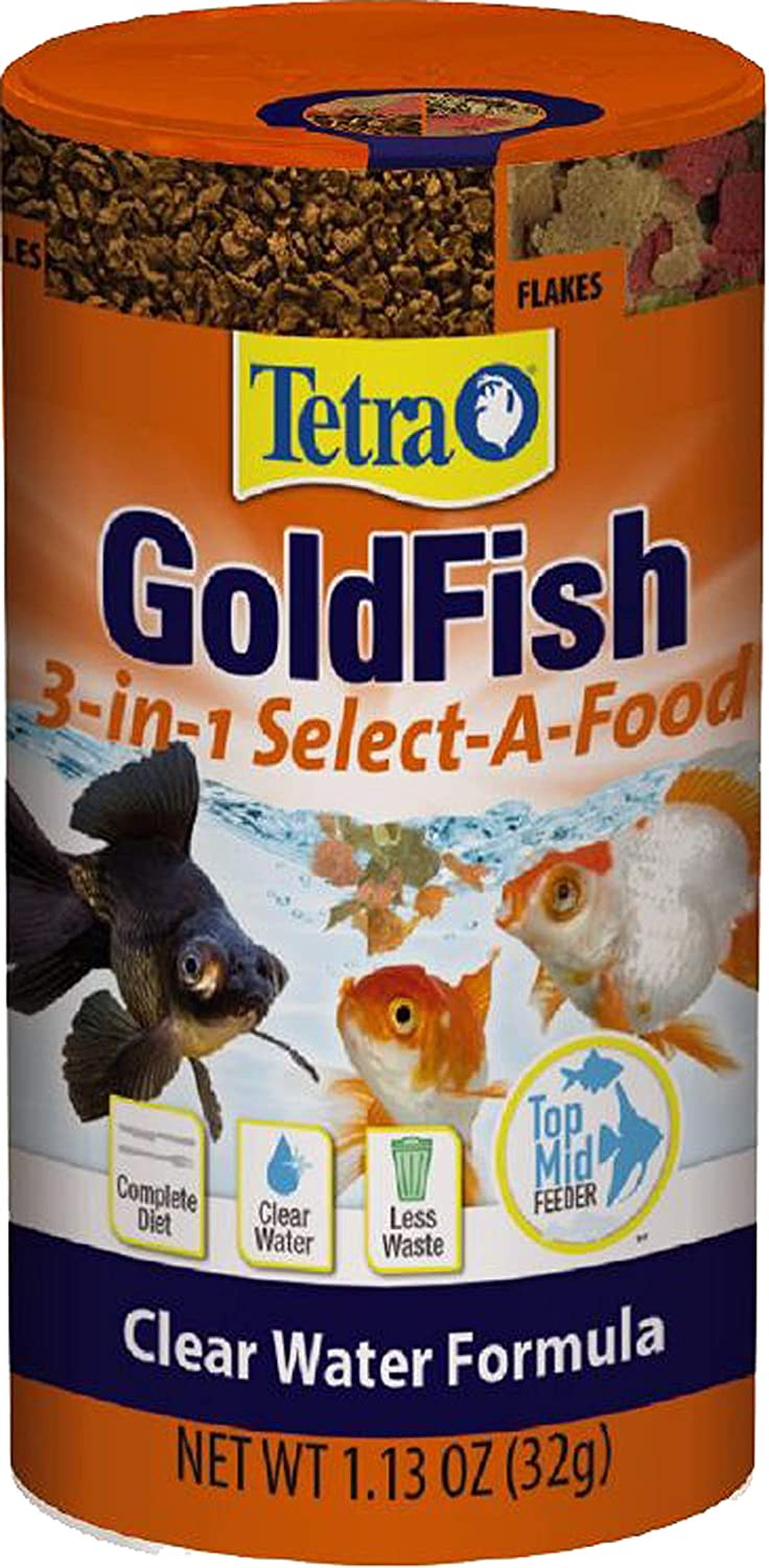 Tetra Goldfish 3-in1 Select-A-Food, Clear Water Formula, 1.13 Ounce