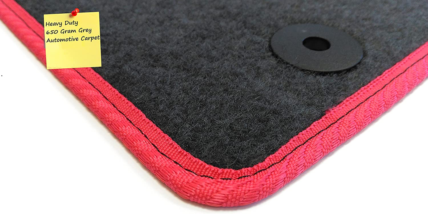 2012- 6 Piece Set Grey with Red Trim Connected Essentials 5034058 Tailored Heavy Duty Custom Fit Car Mats Vauxhall Zafira Tourer