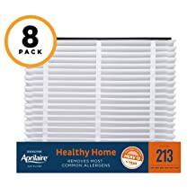 Aprilaire 213 Healthy Home Air Filter for Aprilaire Whole-Home Air Purifiers, MERV 13, for Most Common Allergens (Pack of 8)