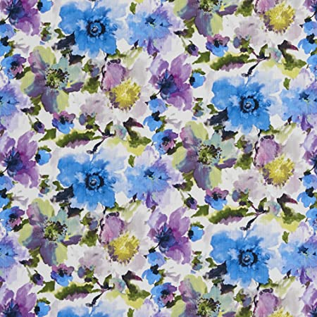 Watercolor Purple Floral Cotton Ripple Fabric 47.2 Wide by Yard 40275 Fabric