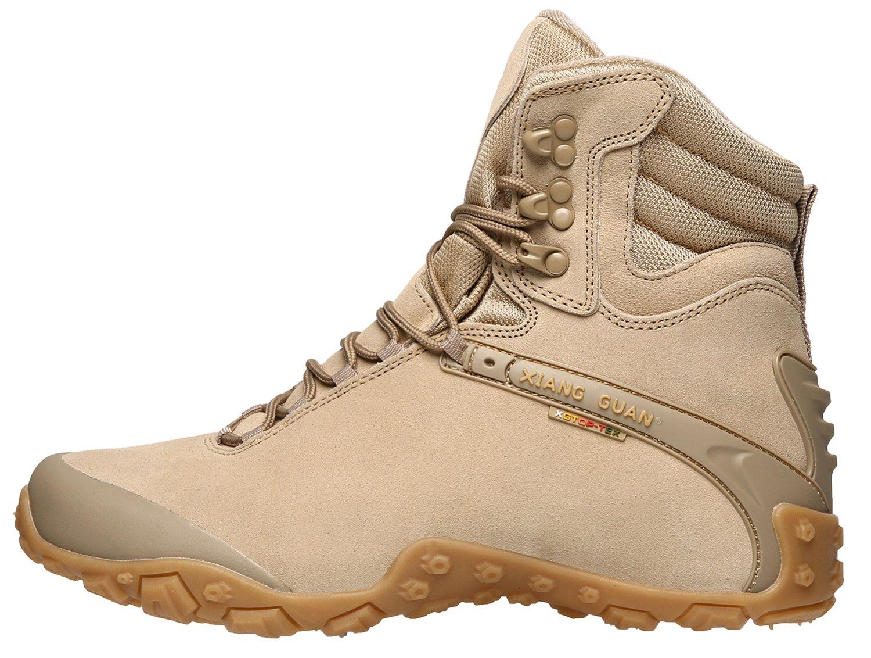 XIANG GUAN Women's Outdoor High-Top Waterproof Trekking Hiking Boots B078SR4LLZ 10 M US|Sand