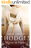 Marry in Haste: Atmospheric historical romance set against the backdrop of Napoleonic Europe