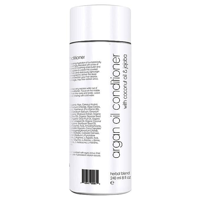 Acondicionador de Aceite de Argán por Poppy Austin® - 100% Natural, Orgánico y Libre de Sulfato - Mejor para Cabello Seco, Dañado, Natural, Teñido y Rizado ...