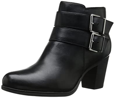 Clarks Women's Palma Rena Boot, Black Leather, ...