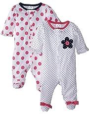 e769128a11d Gerber Baby Girls  2-Pack Sleep  N Play