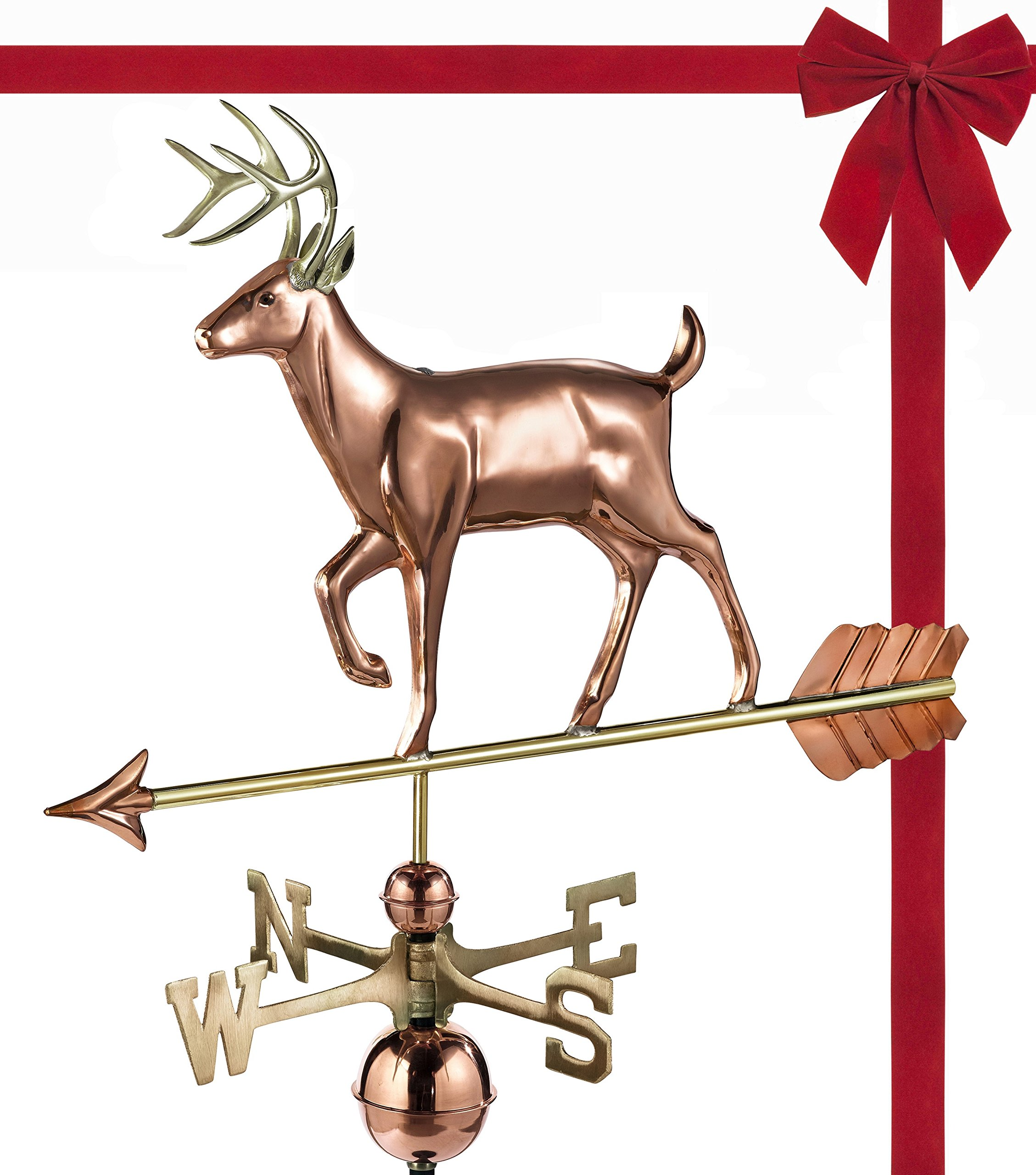 Good Directions White Tail Buck / Deer Weathervane, Pure Copper, Rooftop, Roof Décor, Wildlife by Good Directions