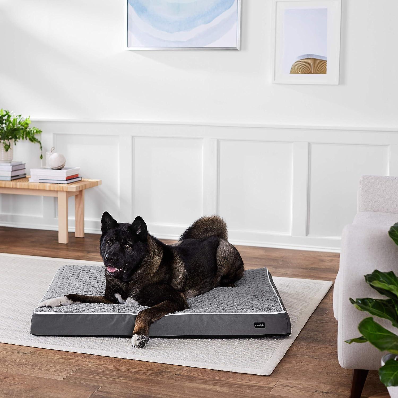 "AmazonBasics Ergonomic Foam Pet Bed - 35"" x 44"""