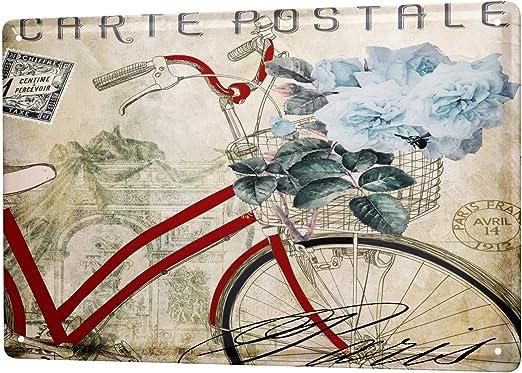 LEotiE SINCE 2004 Cartel Letrero de Chapa XXL Retro Antigua Vieja Bicicleta: Amazon.es: Hogar