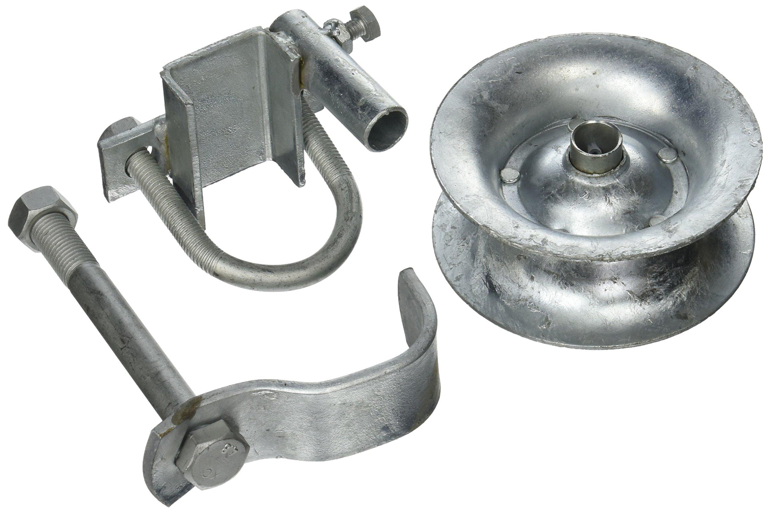 Pressed Steel Rear Track Roller Guide Roller Light Duty Chain Link Gates 1-5/8''