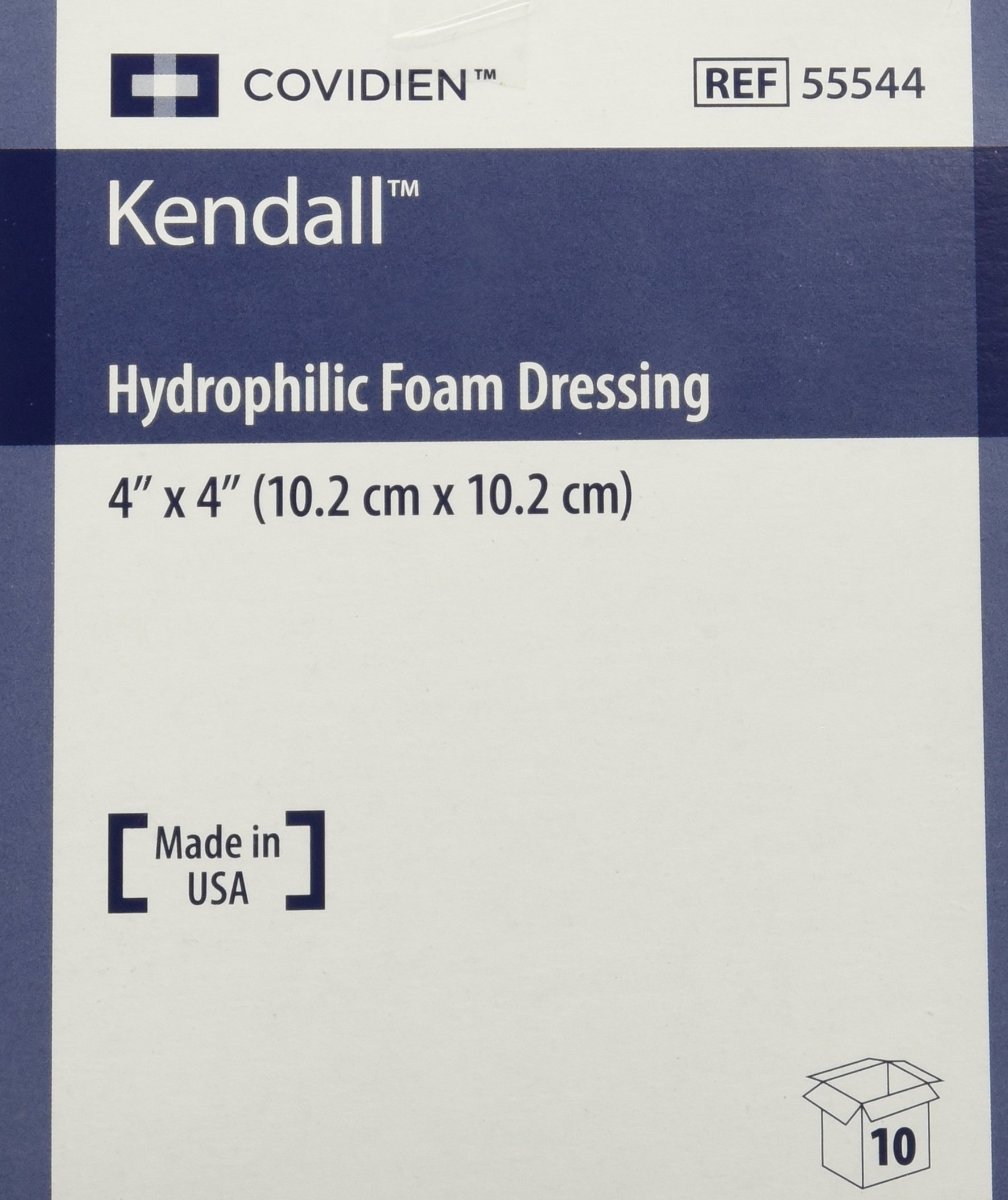 Kendall Copa Hydrophilic Foam Dressing - 4x4'' Box of 10 - KND55544_BX
