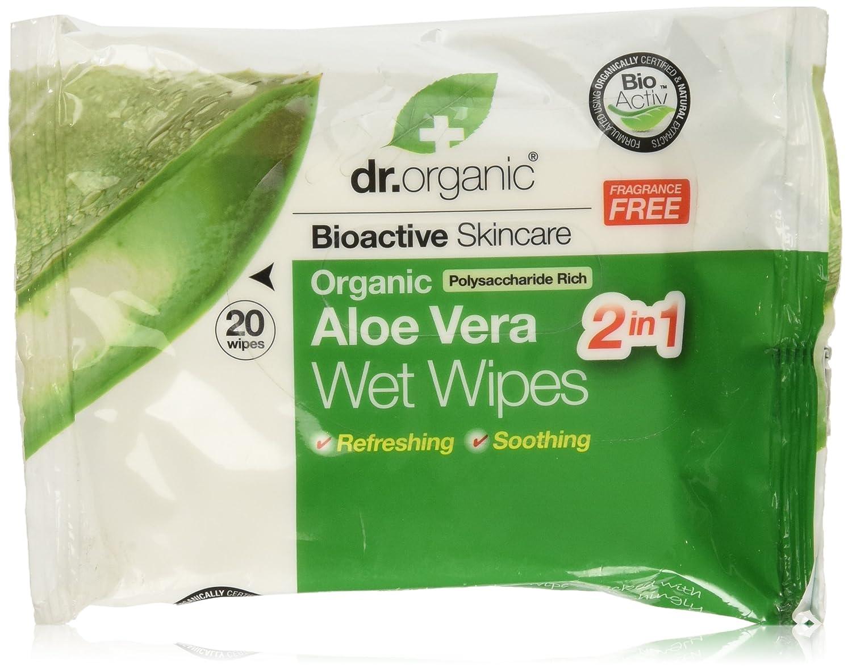 Dr.Organic Aloe Vera Salviettine Umidificate 20 Pz Dr. Organic Italy DRC08036_-90gr