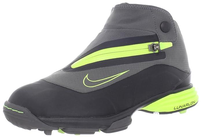 low priced 26981 8392d NIKE Men s Lunar Bandon II Golf Shoes, Black Green (Midnight Mid Fog- ...