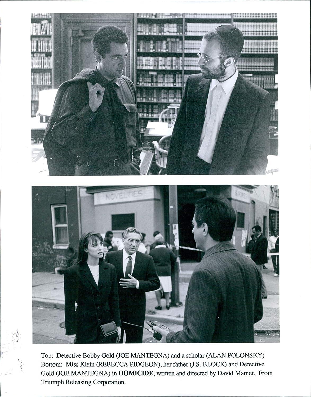 Vintage Photos 1991 Promo Actor Moe Mantegna Alan Polonsky Rebecca Pidgeon Homicide 8X10