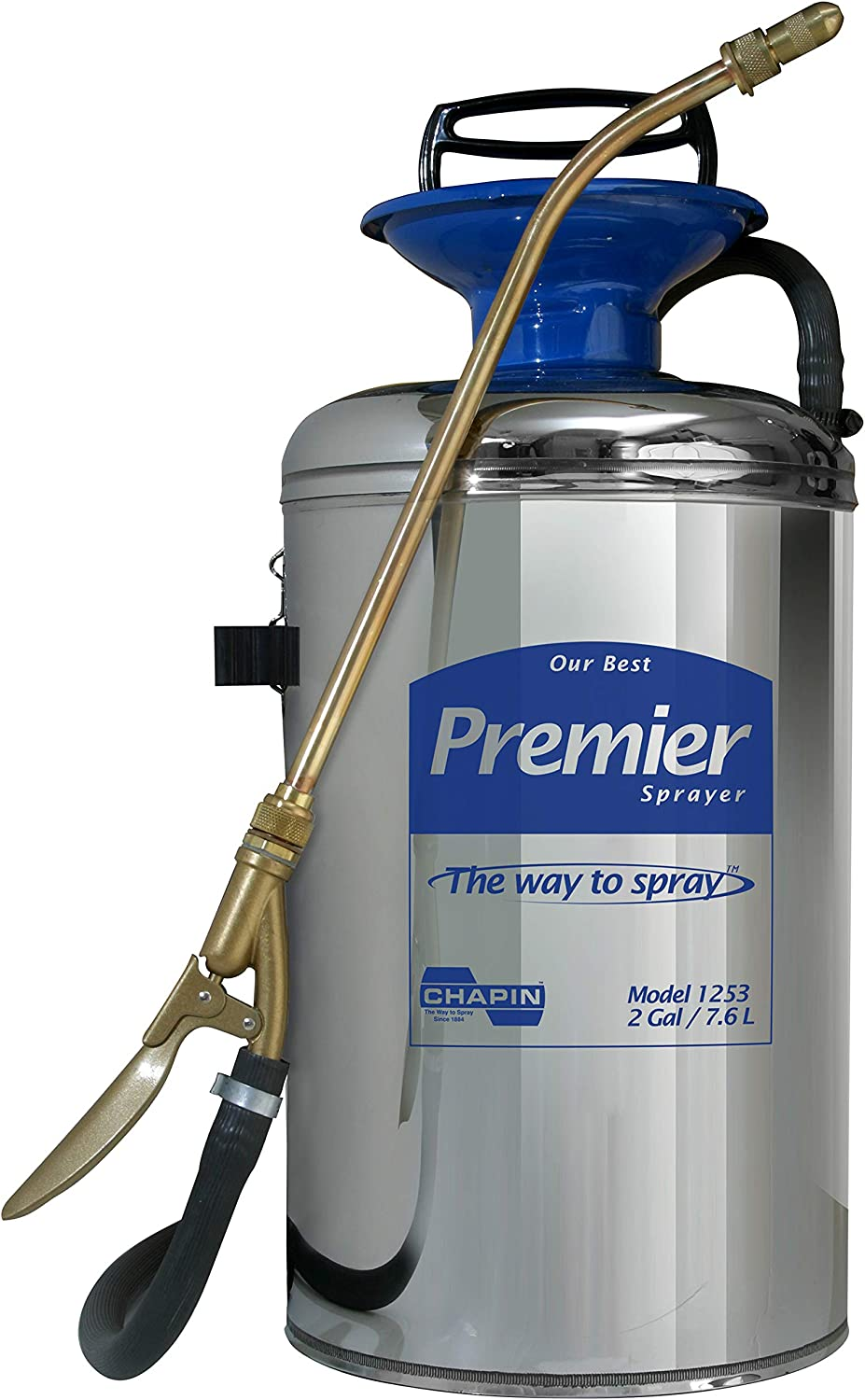 Chapin International Chapin 1253 2-Gallon Premier Series Pro Fertilizer, Herbicides and Pesticides Stainless Steel Garden Sprayer