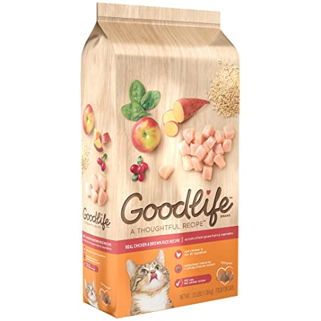 Amazon goodlife adult real chicken and brown rice recipe dry goodlife adult real chicken and brown rice recipe dry cat food 35 pounds forumfinder Image collections