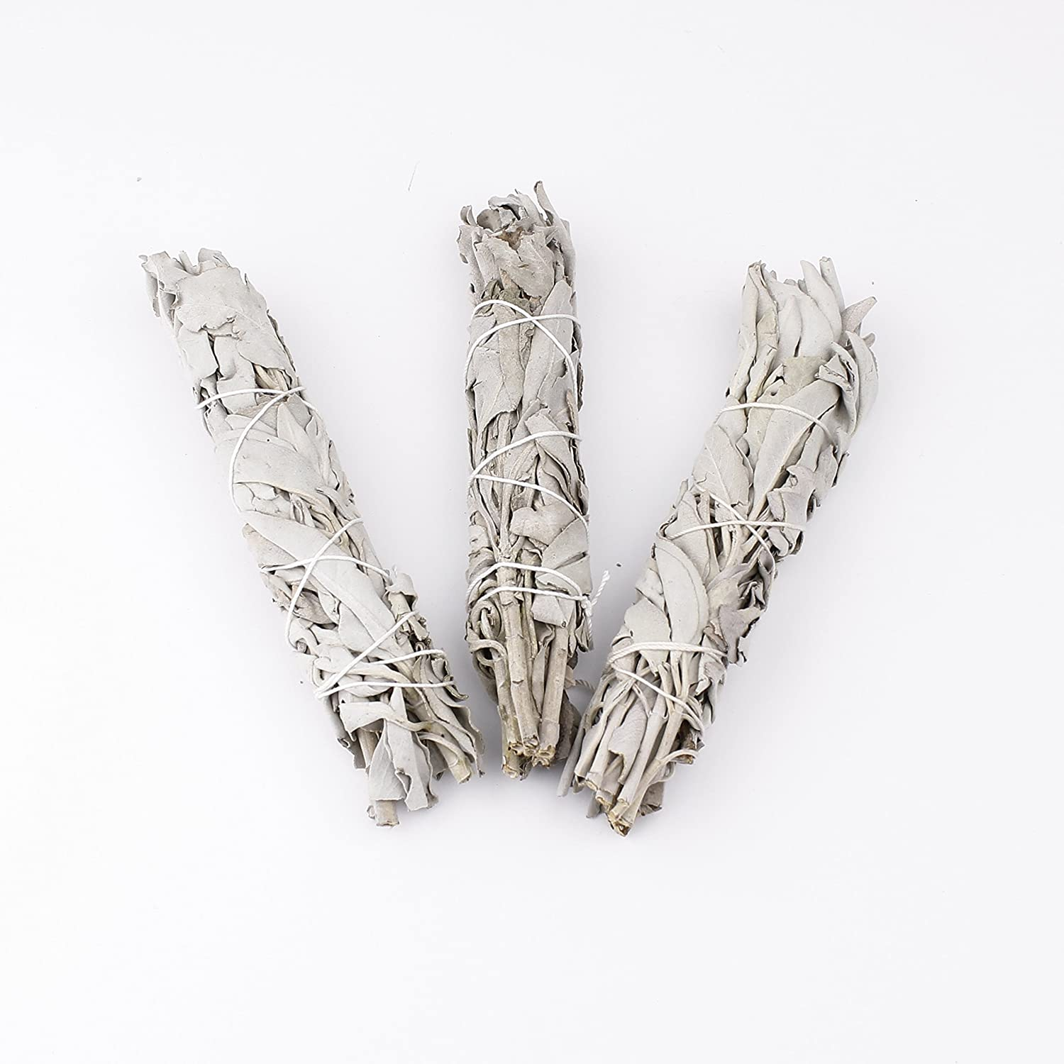 Heka Naturals Sage Smudge Sticks White Bundle Home Cleansing, Smudging & Blessing: Sage Bundle New Age Chakra Spiritual White California Sourced Authentic Native American Tradition (3)