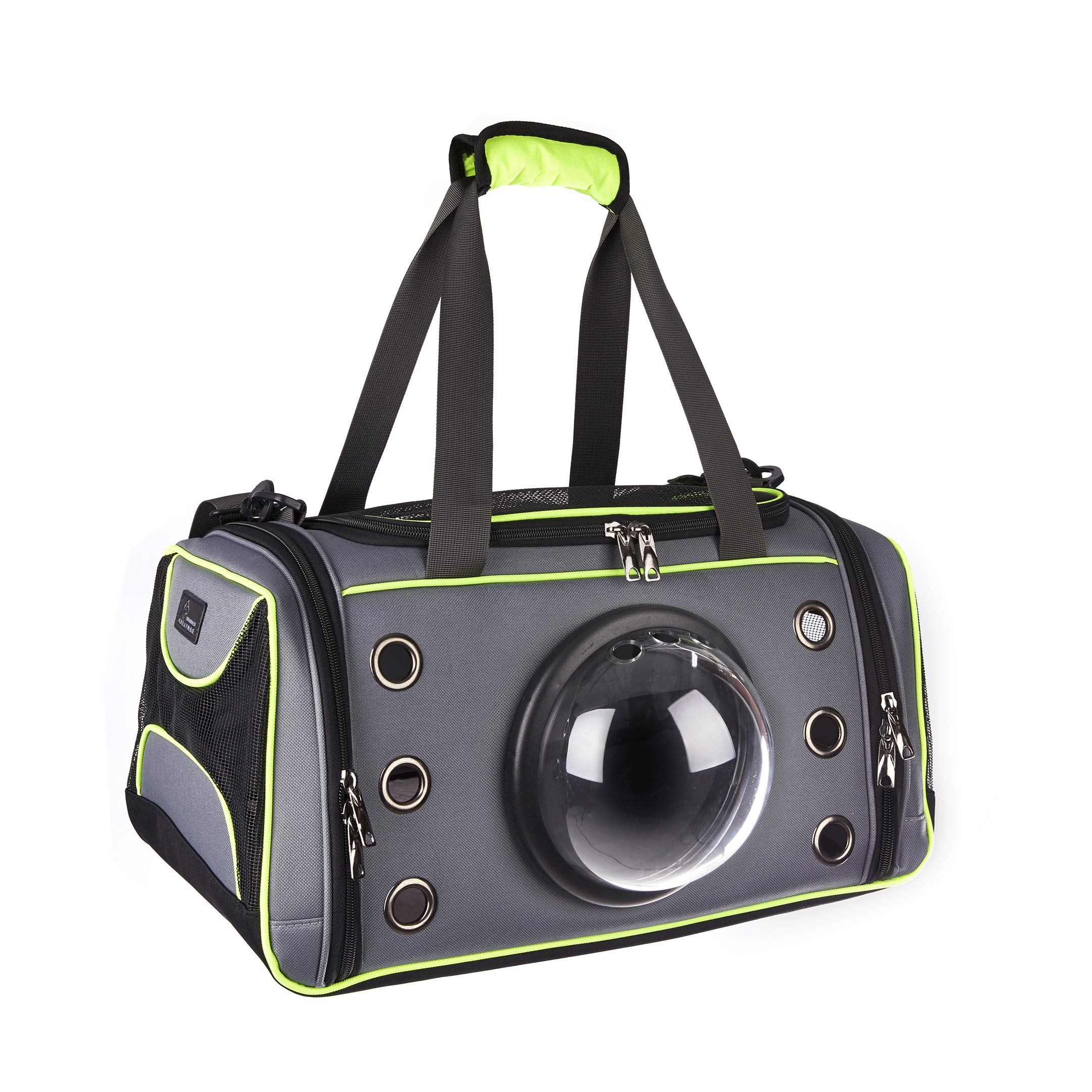 Wonder Creature Pet Carrier Dog and Cat Carrier Pet Travel Bag Transparent Breathable Space Capsule Design for Small Dog Cat Kittens Puppies Premium Quality 16.1'' x 9.8'' x 9.4''