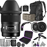Sigma 35mm F1.4 Art DG HSM Lens for Canon DSLR Cameras + Sigma USB Dock with Altura Photo Essential Accessory and Travel Bund