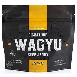 Greg Norman Signature Wagyu Beef Jerky   Teriyaki 2.5oz   Gluten Free Snack Made with All Natural 100% Australian Wagyu Beef, No Nitrates/Nitrites Added