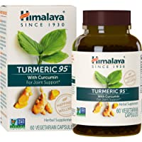 Himalaya Turmeric 95 with Curcumin for Joint Support, 60 Capsules, 600 mg, 2 Month...
