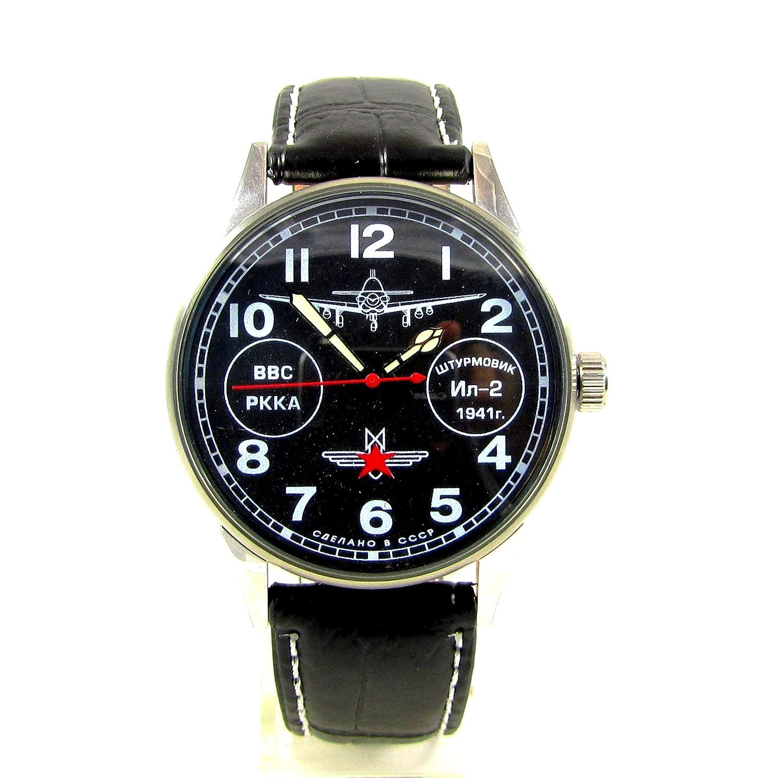 Poljot Fighterメンズ腕時計平面2609ロシアWatch Rare B07DSZ1DXT