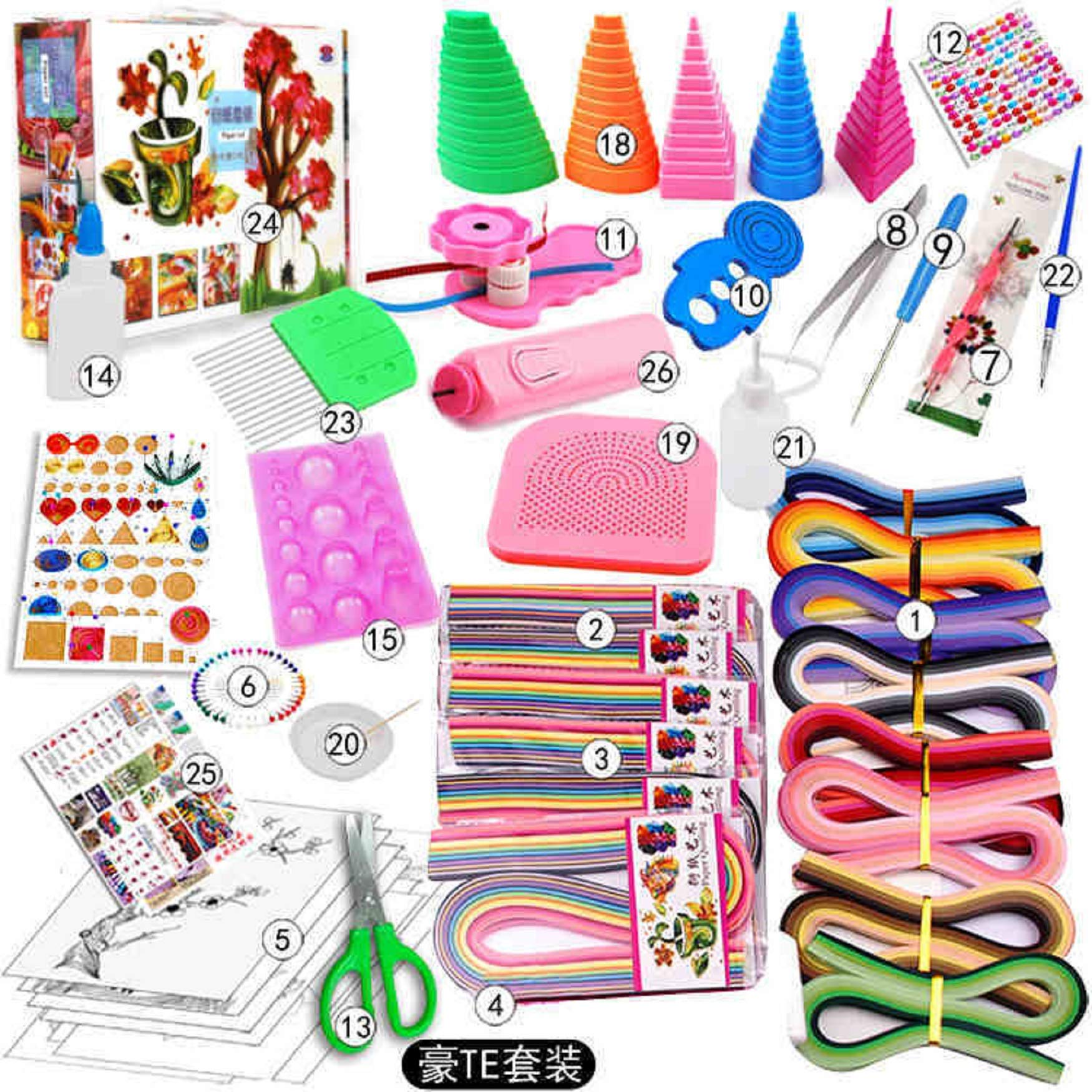 DIY Paper Quilling Handmade Tools Set Template Tweezer Slotted Tool Kit Paper Card Crafts Decorating Tools Artwork C81 (1) by Souvenir