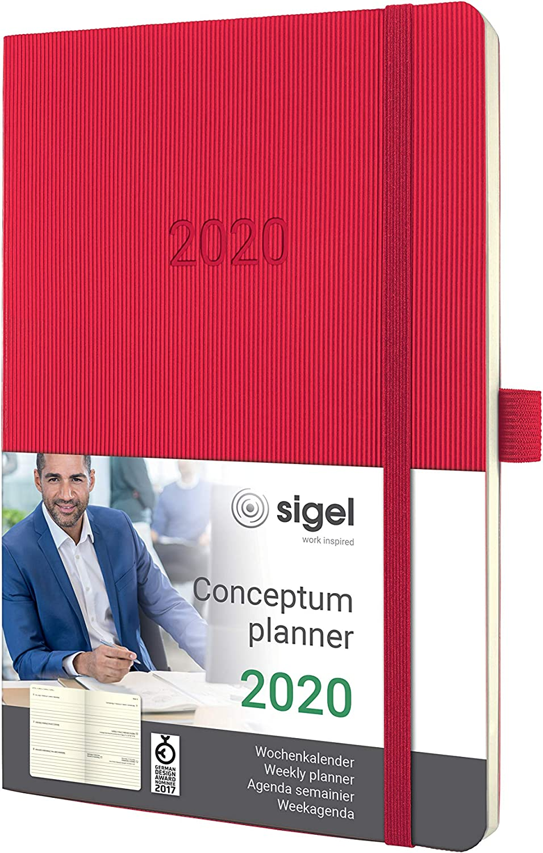 schwarz Softcover weitere Modelle A5 Conceptum SIGEL C2084 Monats-Kalenderheft 2020 ca