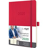 SIGEL C2034 Wochenkalender 2020, ca. A5, rot, Softcover Conceptum - weitere Modelle