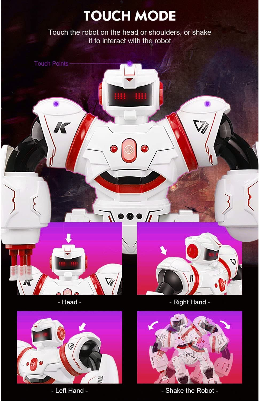 JJRC R3 Smart Robot de Combate Juguete Control RC Gesture Sensor Acción Pantalla Canto Dancing USB de Carga Niños Regalo de Cumpleaños de Navidad: Amazon.es: Juguetes y juegos