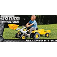 Tonka Pedal Excavator with Trailer Ride On