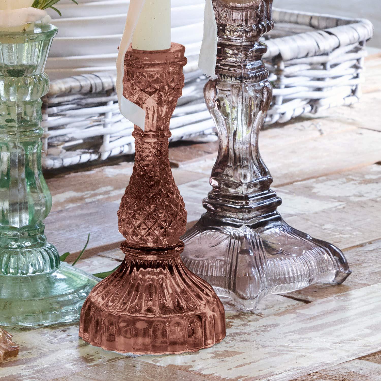 Loberon Fr/éjeville Jeu de 3/photophores d/écoratifs en verre H x /Ø env.32//8,5/cm transparent//argent/é