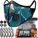 ATTICA Face Mask with Filters - Reusable Washable Adjustable Face Mask for Running, Cycling, Outdoor Activities(1 Mask…